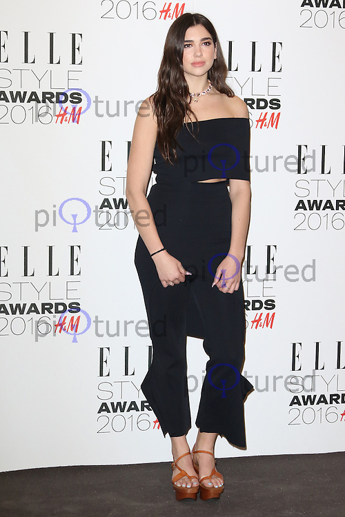 Dua Lipa, ELLE Style Awards 2016, Millbank London UK, 23 February 2016, Photo by Richard Goldschmidt