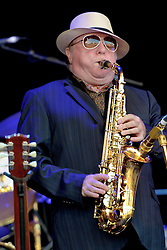 Van Morrison performs at Cornbury Music Festival in front of a sun soaked crowd. The festival is in it's 10th Year this year,<br /> Great Tew Park, Oxfordshire, United Kingdom,<br /> Sunday 7th July, 2013. Photo by: i-Images