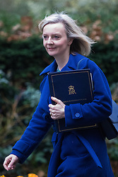 Downing Street, London, February 7th 2017. Justice Secretary and Lord Chancellor Liz Truss arrives in Downing Street for the weekly UK cabinet meeting.