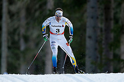13.12.2014, Davos, SUI, FIS Langlauf Weltcup, Davos, 15 km, Herren, im Bild Emil Joensson (SWE) // during Cross Country, 15km, men at FIS Nordic world cup in Davos, Switzerland on 2014/12/13. EXPA Pictures &copy; 2014, PhotoCredit: EXPA/ Freshfocus/ Christian Pfander<br /> <br /> *****ATTENTION - for AUT, SLO, CRO, SRB, BIH, MAZ only*****
