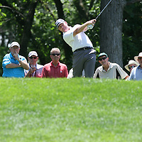 Jeff Maggert teeing off on the 15th hole at the 2016 American Family Championship held at University Ridge Golf Course, Madison,  WI. on June 24, 2016.<br /> <br /> <br /> <br /> <br /> <br />  2016 American Family Championship held at University Ridge Golf Course, Madison,  WI. on June 23, 2016.