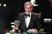 Category: Supporting Actor<br /> Winner: Mark Rylance<br /> L-r: Steven Spielberg