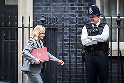© Licensed to London News Pictures. 02/08/2016. London, UK. International Development Secretary Justine Greening arrives on Downing Street for a meeting of the Cabinet Committee on Economy and Industrial Strategy. Photo credit: Rob Pinney/LNP