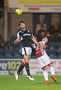 Dundee&rsquo;s Julen Etxabeguren and Hamilton&rsquo;s Alexandre D'Acol - Dundee v Hamilton Academical in the Ladbrokes Scottish Premiership at Dens Park<br /> <br />  - &copy; David Young - www.davidyoungphoto.co.uk - email: davidyoungphoto@gmail.com