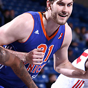 Westchester Knicks Center Jordan Bachynski (31) seen near the paint in the second half of a NBA D-league regular season basketball game between the Delaware 87ers and the Westchester Knicks (New York Knicks) Wednesday, Feb. 17, 2015 at The Bob Carpenter Sports Convocation Center in Newark, DEL