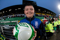Young footballer during EURO 2012 Quaifications game between National teams of Slovenia and Northern Ireland, on March 29, 2011, in Windsor Park Stadium, Belfast, Northern Ireland, United Kingdom. (Photo by Vid Ponikvar / Sportida)