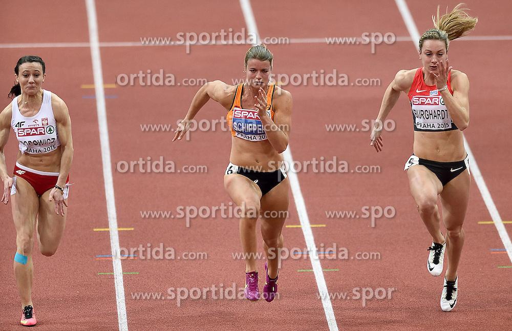 08-03-2015 CZE: European Athletics Indoor Championships, Prague<br /> Dafne Schippers in actie in de semi final op de 60 meter