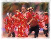 Folk dancing painting