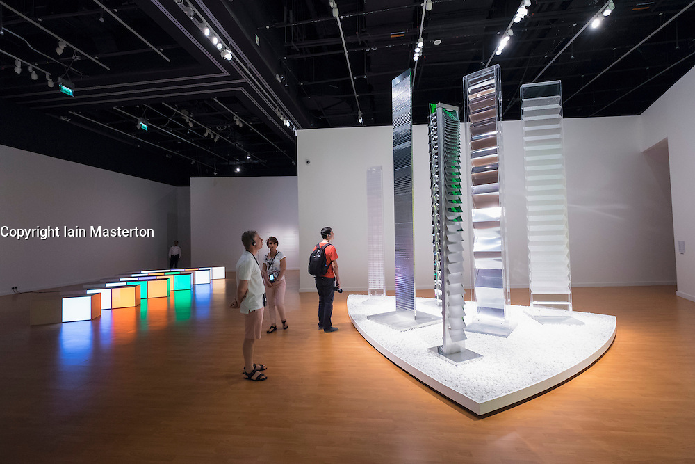 Exhibition Seeing Through Light with selections from the Guggenheim Abu Dhabi Collection on display at Manarat Al Saadiyat Cultural District on Saadiyat Island in Abu Dhabi United Arab Emirates