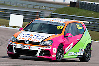 #31 Jamie BOND  Team Hard  Volkswagen Golf Milltek Sport Volkswagen Racing Cup at Rockingham, Corby, Northamptonshire, United Kingdom. April 30 2016. World Copyright Peter Taylor/PSP.