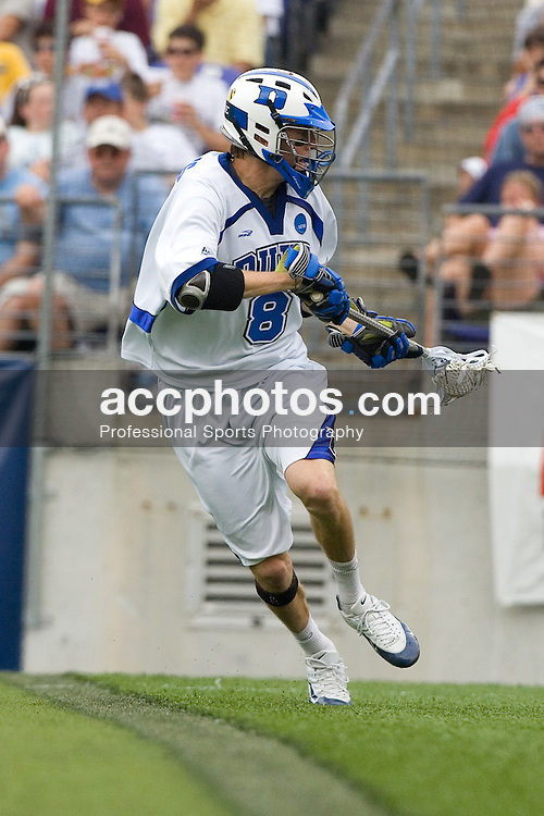 28 May 2007: Duke Blue Devils midfielder Ed Douglas (8) in a 11-12 loss to the Johns Hopkins Blue Jays at M&T Bank Stadium during the NCAA finals in Baltimore, MD.