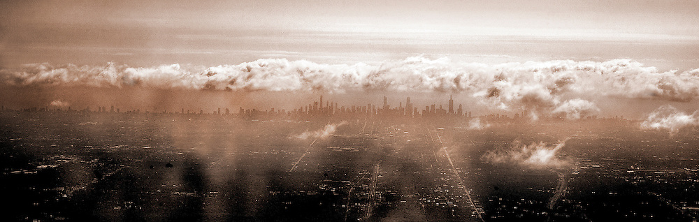 Photo By Michael R. Schmidt.Chicago skyline 30 miles straight west of downtown. 2012.