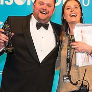 NLD/Amsterdam//20140331 - Uitreiking Edison Pop 2014, Frans Duijts en Karen Schenk