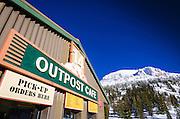 The Outpost Cafe at Mammoth Mountain Ski Area, Mammoth Lakes, California USA
