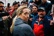 Giorgia Meloni, during a fishermen protest in front of italian Parliament on February 01, 2017 in Rome. Christian Mantuano/ OneShot