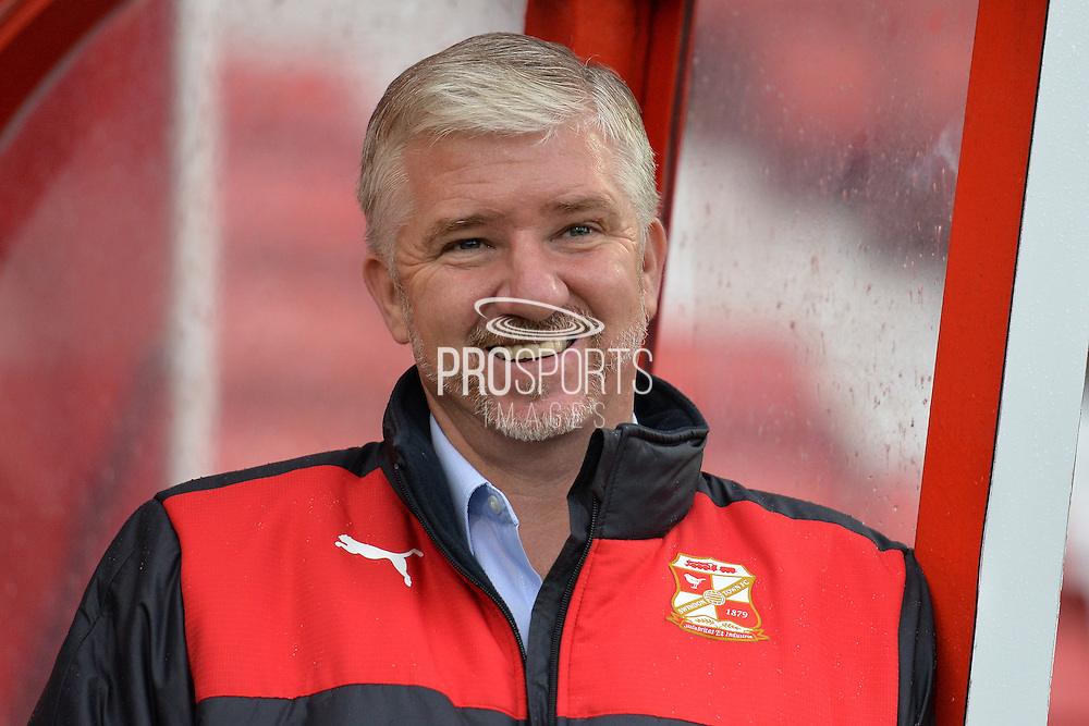 Swindon Town Manager Martin Ling during the Sky Bet League 1 match between Swindon Town and Scunthorpe United at the County Ground, Swindon, England on 14 November 2015. Photo by Mark Davies.