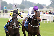 CHYNA (5) ridden by jockey Franny Norton and trained by Mick Channon wins The Jigsaw Sports Branding British EBF Novice Stakes over 5f (£15,000) at York Racecourse, York, United Kingdom on 13 July 2018. Picture by Mick Atkins.