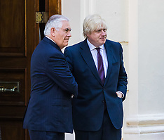 2017-05-26 British Foreign Secretary Boris Johnson meets US Secretary of State Rex Tillerson