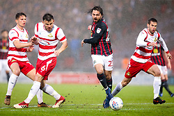 Bradley Dack of Blackburn Rovers goes past Andrew Butler of Doncaster Rovers - Mandatory by-line: Robbie Stephenson/JMP - 24/04/2018 - FOOTBALL - The Keepmoat Stadium - Doncaster, England - Doncaster Rovers v Blackburn Rovers - Sky Bet League One