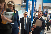 © Licensed to London News Pictures. 29/09/2014. Birmingham, UK. Foreign Secretary Philip Hammond attends the trade show.  The Conservative Party Conference in Birmingham 29th September 2014. Photo credit : Stephen Simpson/LNP