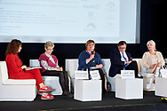 Warsaw, Poland - 2017 April 07: (L-R) Magdalena Petryniak - President of Story Seekers Polska and Ewa Kozdron - President of the European Association for the Promotion of Mobility 50+ and Anna Kowalewska - Department of Biomedical Development and Sexology of Warsaw University and Boleslaw Samolinski - expert in public health / Warsaw University and Foundation for Healthy Aging and Hanna Piekarska attend in The Day of Health - science conference in the National Library on April 07, 2017 in Warsaw, Poland.<br /> <br /> Mandatory credit:<br /> Photo by © © Adam Nurkiewicz / Mediasport / Mediasport<br /> <br /> Picture also available in RAW (NEF) or TIFF format on special request.<br /> <br /> Any editorial, commercial or promotional use requires written permission from the author of image.<br /> <br /> Adam Nurkiewicz declares that he has no rights to the image of people at the photographs of his authorship.