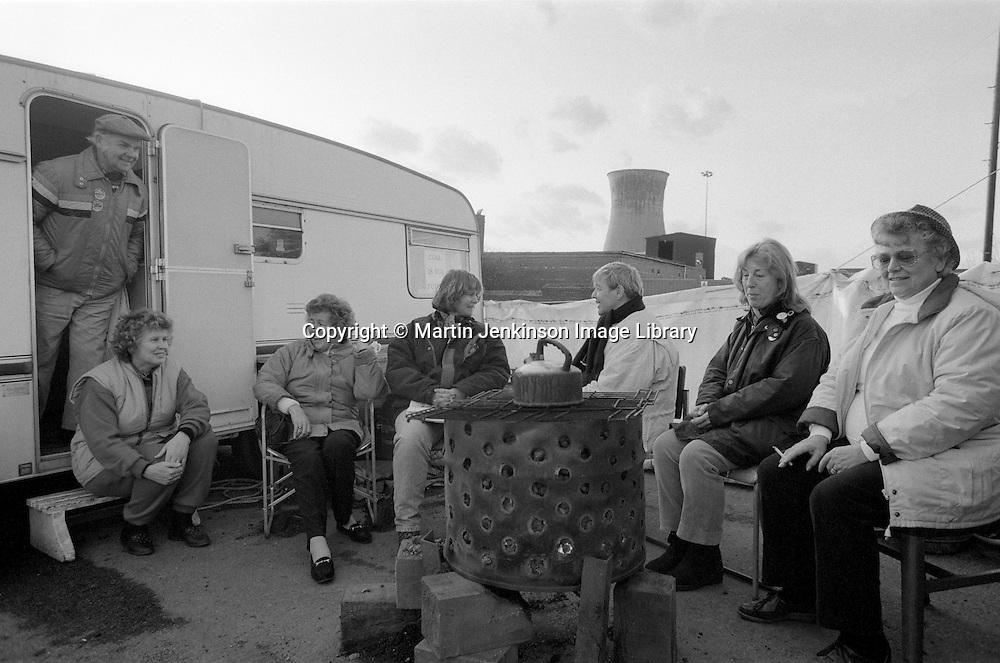 Women Against Pit Closures (WAPC) pit camp at Grimethorpe 18 January 1993