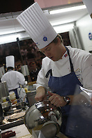 Timothy Hollingsworth, team USA  -at the Bocuse d'Or..Owen Franken for the NY Times..January 28, 2009.