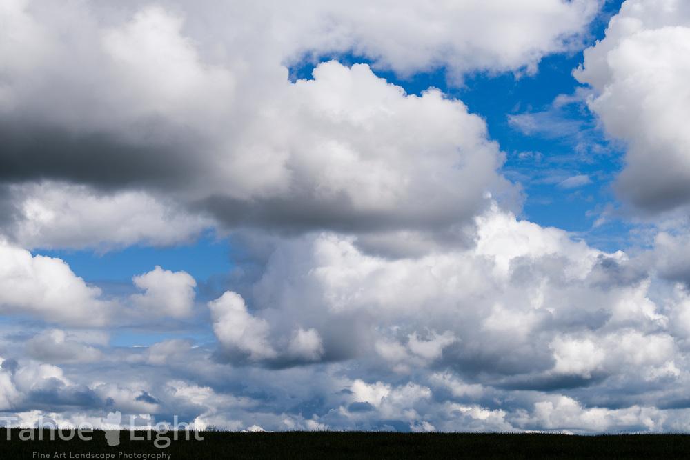 Cloudscape. Cloudy sky,
