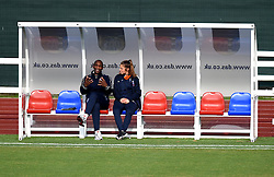 Goalkeeping coach, John Granville giving words of wisdom to Mary Earps of Bristol Academy Women - Mandatory by-line: Paul Knight/JMP - Mobile: 07966 386802 - 04/10/2015 -  FOOTBALL - Stoke Gifford Stadium - Bristol, England -  Bristol Academy Women v Liverpool Ladies FC - FA Women's Super League