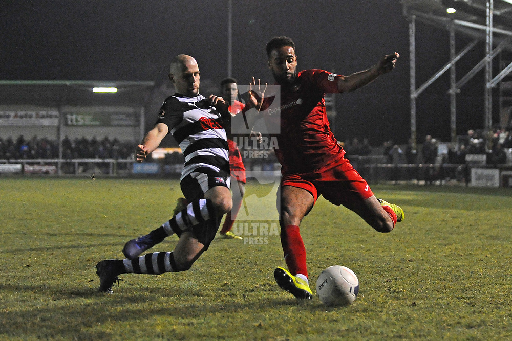 TELFORD COPYRIGHT MIKE SHERIDAN Brendon Daniels of Telford during the Vanarama Conference North fixture between Darlington and AFC Telford United at Blackwell Meadows on Saturday, November 30, 2019.<br /> <br /> Picture credit: Mike Sheridan/Ultrapress<br /> <br /> MS201920-032