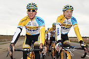 SPAIN / SPANJE / MALLORCA / CYCLING / WIELRENNEN / CYCLISME / CYCLOCROSS / VELDRIJDEN / TELENET FIDEA CYCLING TEAM / WINTERSTAGE / TRAINING CAMP / (L-R) TOM MEEUSEN / NICOLAS CLEPPE /