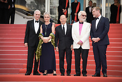 Keir Dullea, Katharina Kubrick, a guest, Stanley Kubrick's, Jan Harlan and Christopher Nolan attending the premiere of the film Le Grand Bain during the 71st Cannes Film Festival in Cannes, France on May 13, 2018. Photo by Julien Zannoni/APS-Medias/ABACAPRESS.COM
