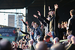 Southend fans celebrate survival at the final whistle - Mandatory by-line: Arron Gent/JMP - 04/05/2019 - FOOTBALL - Roots Hall - Southend-on-Sea, England - Southend United v Sunderland - Sky Bet League One
