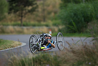 LONDON UK 29TH JULY 2016:  David Cooke. Prudential RideLondon Elite Handcycle Grand Prix at the London Velo Park. Prudential RideLondon in London 29th July 2016<br /> <br /> Photo: Jed Leicester/Silverhub for Prudential RideLondon<br /> <br /> Prudential RideLondon is the world&rsquo;s greatest festival of cycling, involving 95,000+ cyclists &ndash; from Olympic champions to a free family fun ride - riding in events over closed roads in London and Surrey over the weekend of 29th to 31st July 2016. <br /> <br /> See www.PrudentialRideLondon.co.uk for more.<br /> <br /> For further information: media@londonmarathonevents.co.uk