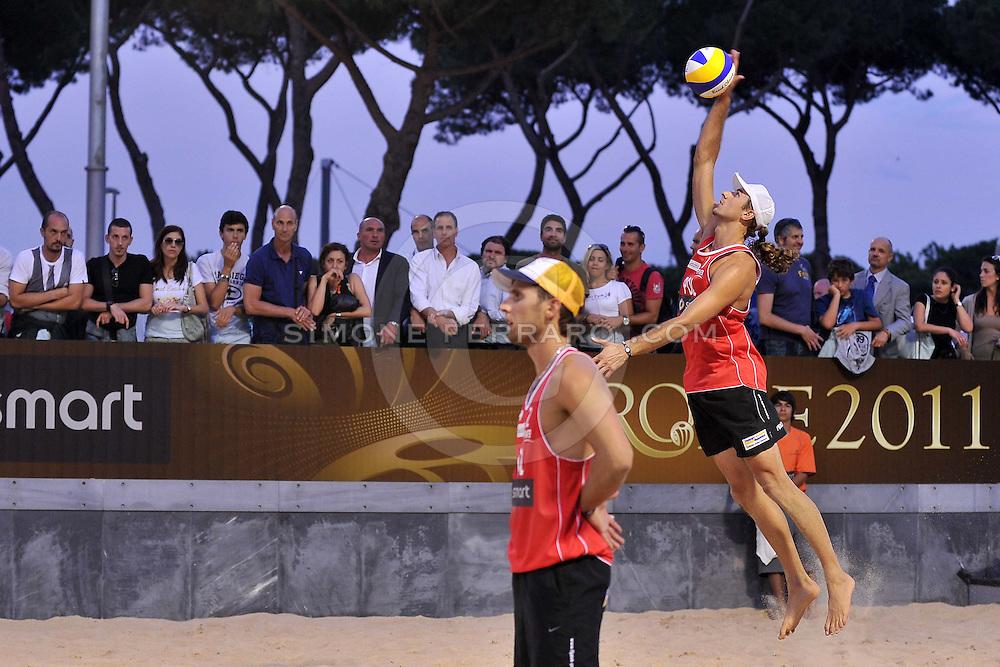 Roma, 15/06/2011..Swatch World Championships Rome2011. Foro Italico..Tomatis-Lupo ITA vs Fijalek-Prudel POL.Foto Simone Ferraro - GMT