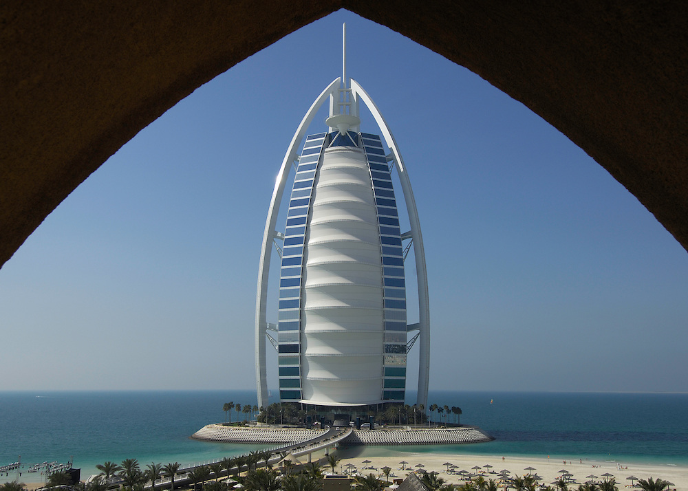 Burj Al Arab, luxury hotel, 7-star, Dubai, United Arab Emirates.