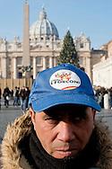 "Roma 22 Dicembre 2013<br /> Il Movimento dei forconi  siciliani di Mariano Ferro si sono dati appuntamento in Vaticano per partecipare all'Angelus e  per ascoltare le parole di Papa Francesco.<br /> Rome, Italy. 22th December 2013 -- The pitchforks movement of the  Sicily of   Mariano Ferro, went to the Vatican to attend the Angelus and to listen to the words of Pope Francis.. -- The so-called ""Pitchfork Movement"" which inspired the protest was originally a group of Sicilian farmers pushing for more help from the government, but it has grown into."
