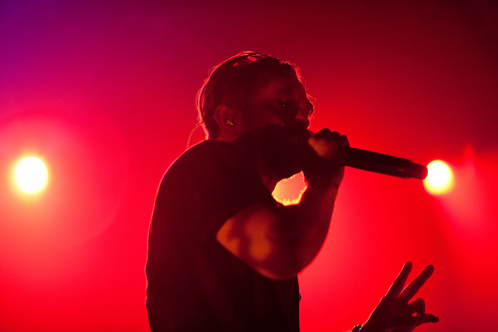 Minneapolis hip hop collective Doomtree performs at The Englert Theater in Iowa City, Iowa on Friday, November 6, 2015 during the first day of the Witching Hour Festival.