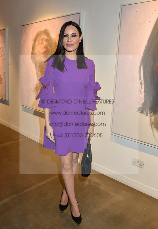 12 December 2019 - Linzi Stoppard at a private view of Lethe by Henrik Uldalen at JD Malat Gallery. 30 Davies Street, London.<br /> <br /> Photo by Dominic O'Neill/Desmond O'Neill Features Ltd.  +44(0)1306 731608  www.donfeatures.com