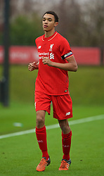 KIRKBY, ENGLAND - Saturday, December 5, 2015: Liverpool's captain Trent Alexander-Arnold during the FA Premier League Academy match at the Kirkby Academy. (Pic by David Rawcliffe/Propaganda)