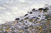 White surf on pebble beach, Big Sur Coast, California