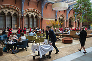 London, 07/08/2017: waiters, St. Pancras Renaissance Hotel.<br /> © Andrea Sabbadini