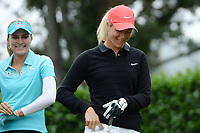 Lexi Thompson (Usa) and Suzann Pettersen (Nor) during the first round of LPGA Evian Championship 2014, day 4, at Evian Resort Golf Club, in Evian-Les-Bains, France, on September 11, 2014. Photo Philippe Millereau / KMSP / DPPI