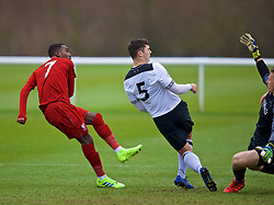 DERBY, ENGLAND - Friday, March 8, 2019: Liverpool's Rafael Camacho scores the second goal during the FA Premier League 2 Division 1 match between Derby County FC Under-23's and Liverpool FC Under-23's at the Derby County FC Training Centre. (Pic by David Rawcliffe/Propaganda)