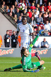 Tammy Abraham of England U21 scores a goal to make it 5-0 - Rogan Thomson/JMP - 11/10/2016 - FOOTBALL - Bescot Stadium - Walsall, England - England U21 v Bosnia and Herzegovina - UEFA European Under 21 Championship Qualifying.