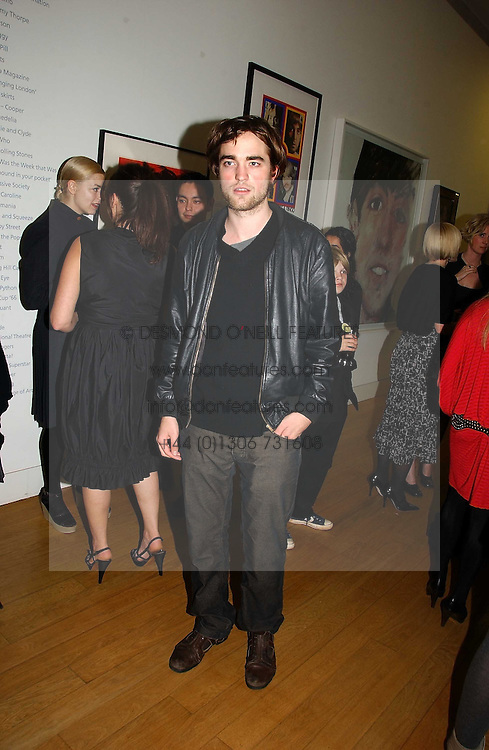 Actor ROBERT PATTINSON at the opening of an exhibition entitled Exceptional Youth supported by Teen Vogue at the National Portrait Gallery, London on 3rd November 2006.<br /><br />NON EXCLUSIVE - WORLD RIGHTS