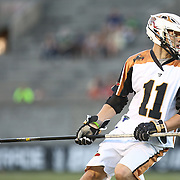 Joel White #11 of the Rochester Rattlers controls the ball during the game at Harvard Stadium on August 9, 2014 in Boston, Massachusetts. (Photo by Elan Kawesch)