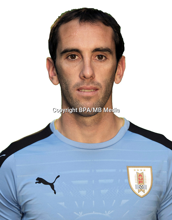 Conmebol - World Cup Fifa Russia 2018 Qualifier / <br /> Uruguay National Team - Preview Set - <br /> Diego Roberto Godin