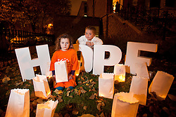 Repro Free: 25/20/2010 Roxane Vance Cronin (5) and Siofra O'Sullivan (5) pictured at a Candle of Hope ceremony to mark the launch of the Global Relay For Life European Summit which is being hosted by the Irish Cancer Society in Dublin today. Pic Andres Poveda..The Global Relay For Life European Summit is an international symposium focusing on how ?We Save Lives? through Relay For Life in communities across the globe. Relay For Life is a 24 hour community celebration event which sees teams of participants take to the track overnight to symbolise the fact that cancer never sleeps. The Irish Cancer Society was chosen this year to host the Summit, which is organised by the American Cancer Society, from the 25th-27th of October 2012....To find out more about Relay For Life, visit www.relayforlife.ie or call 1850 60 60 60. ..ENDS. .For further information, please contact:.Grainne O'Rourke / Órla Sheils.Communications, Irish Cancer Society.E: gorourke@irishcancer.ie / osheils@irishcancer.ie .T: 01 231 0546 / 01 231 055 / 087 9707709