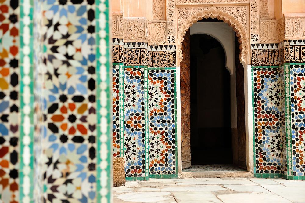 Interior of Madrassa Ben Yusef